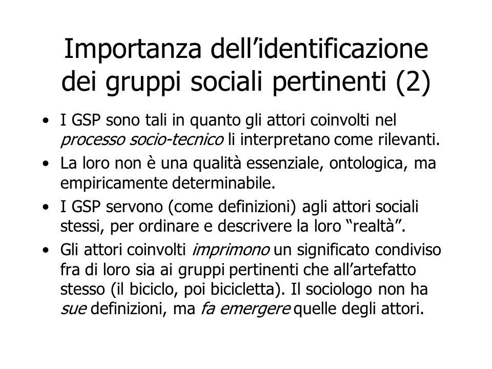 Importanza dell'identificazione dei gruppi sociali pertinenti (2)