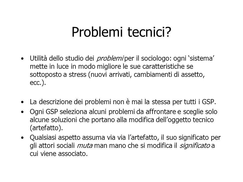 Problemi tecnici