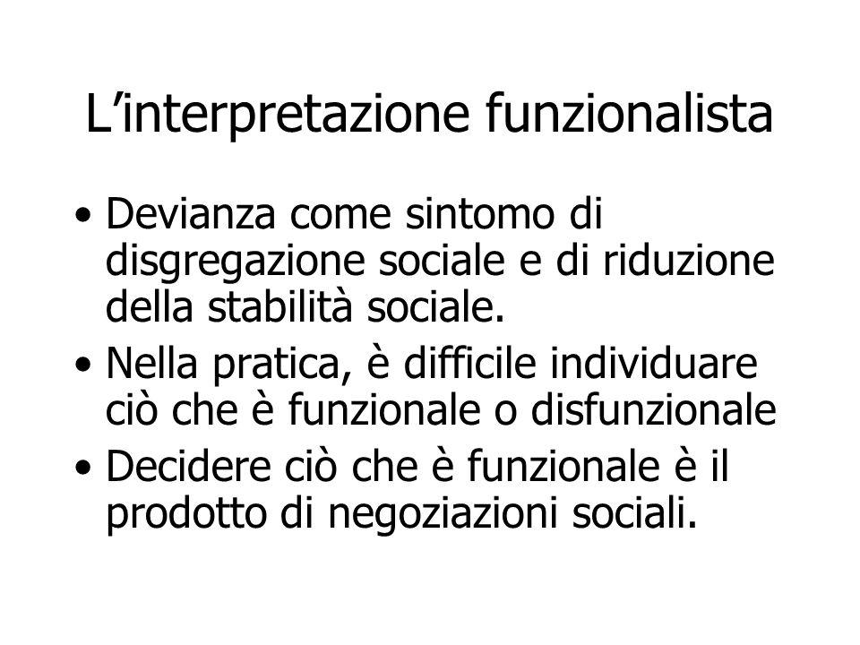 L'interpretazione funzionalista