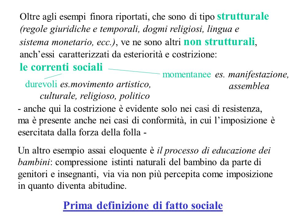 Prima definizione di fatto sociale
