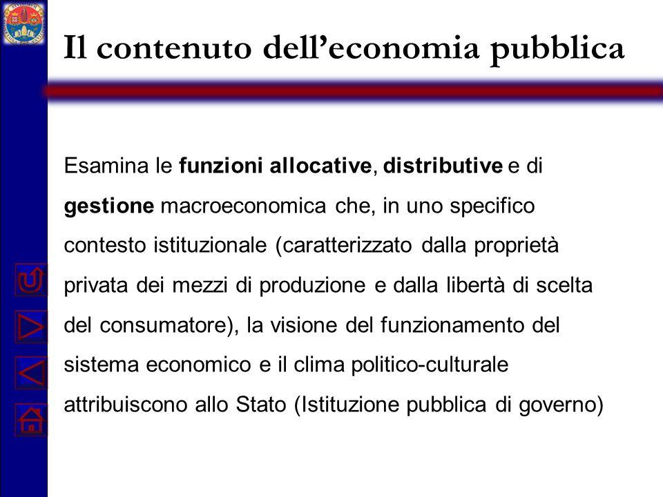 Il contenuto dell'economia pubblica