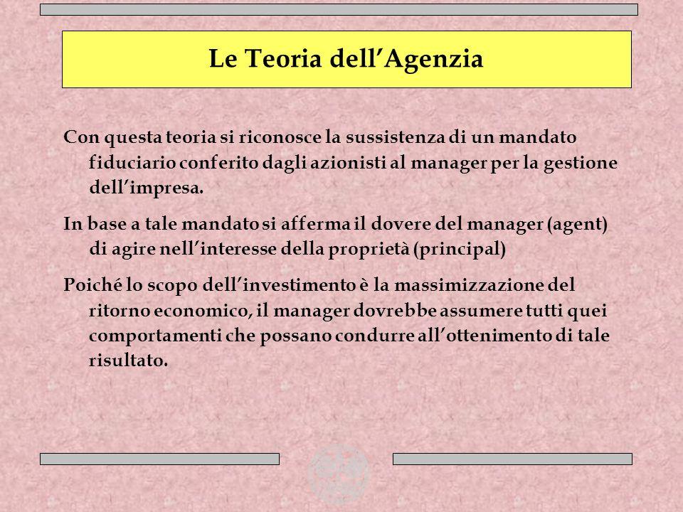 Le Teoria dell'Agenzia
