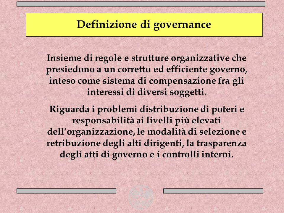 Definizione di governance