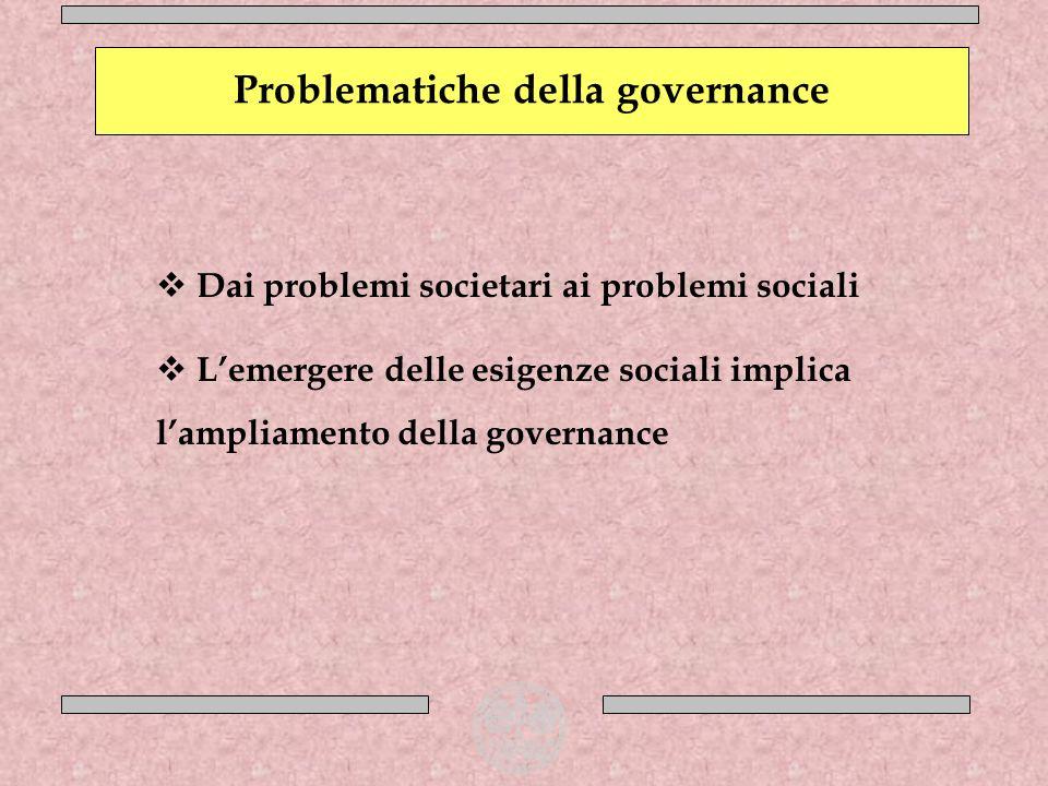 Problematiche della governance