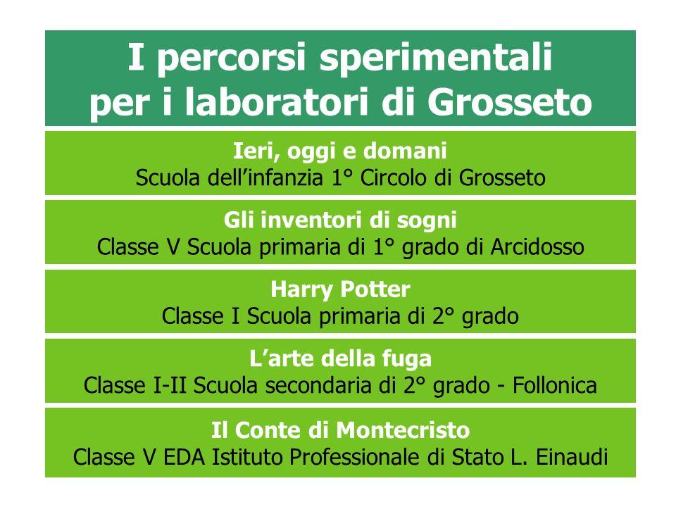 I percorsi sperimentali per i laboratori di Grosseto