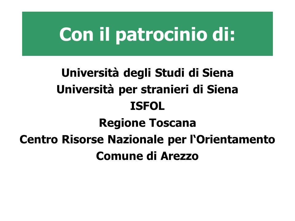Con il patrocinio di: Università degli Studi di Siena
