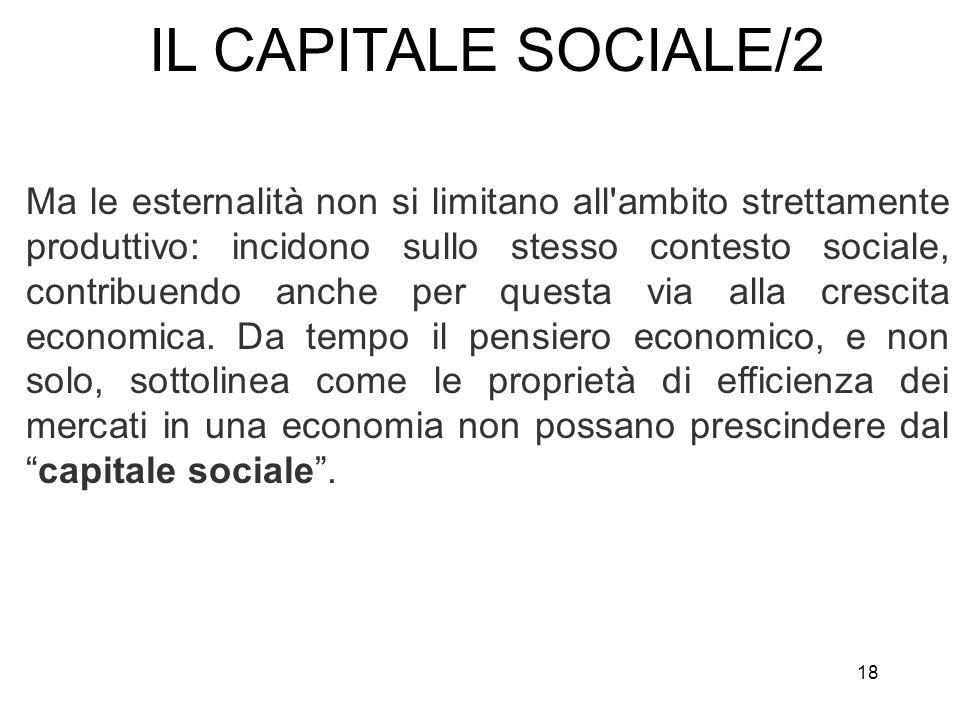 IL CAPITALE SOCIALE/2