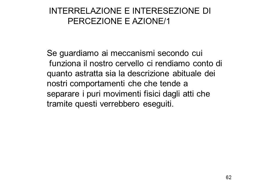 INTERRELAZIONE E INTERESEZIONE DI