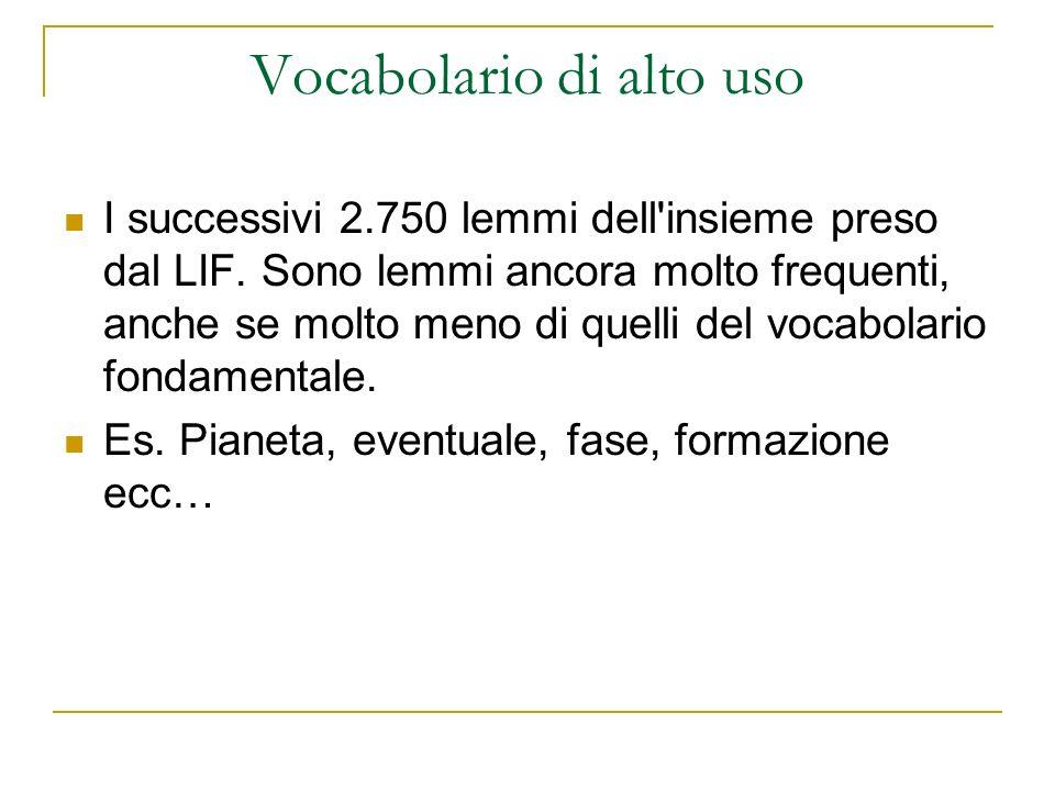 Vocabolario di alto uso
