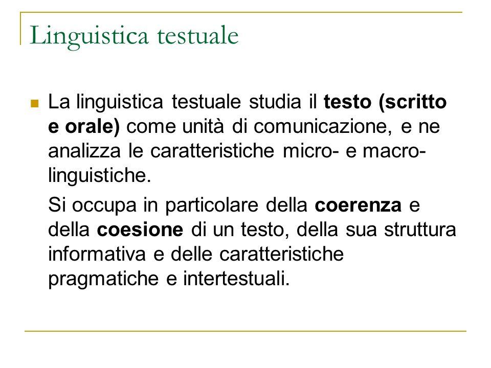 Linguistica testuale