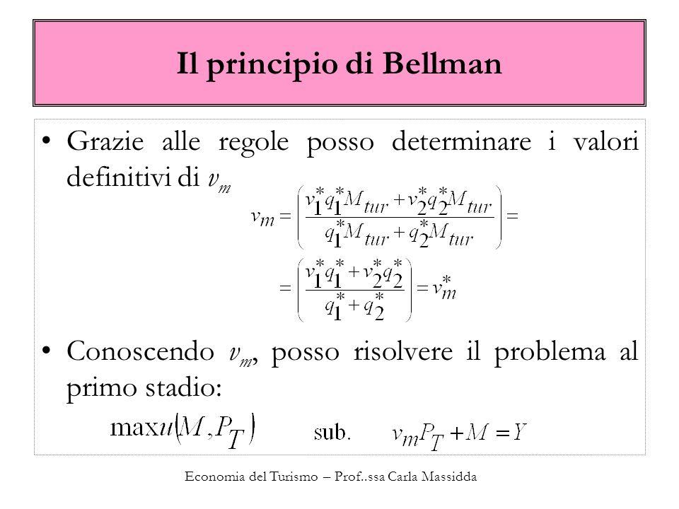 Il principio di Bellman