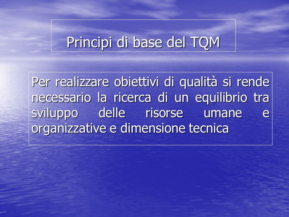 Principi di base del TQM