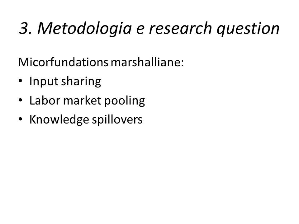 3. Metodologia e research question