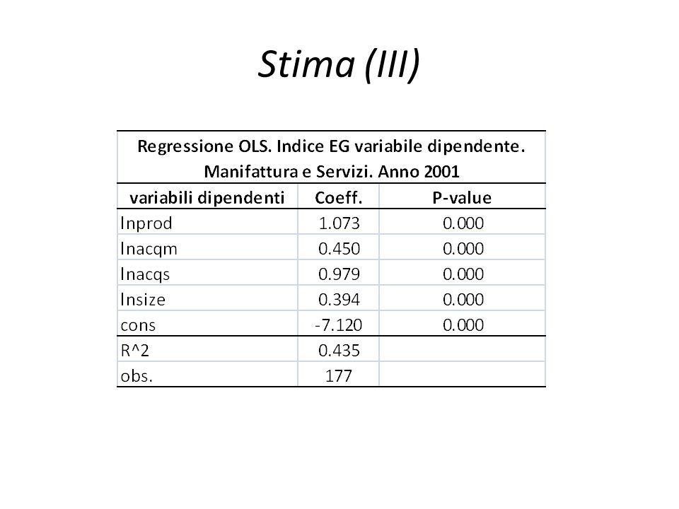 Stima (III)