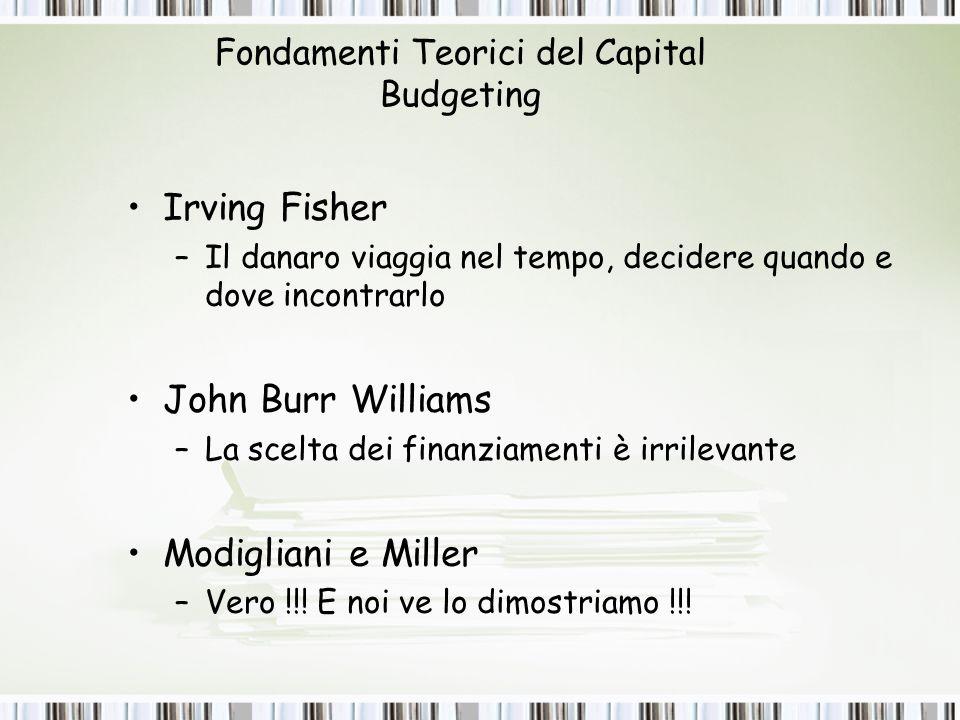 Fondamenti Teorici del Capital Budgeting