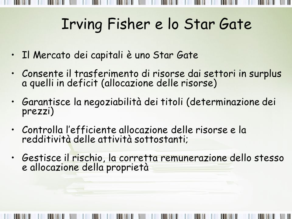 Irving Fisher e lo Star Gate