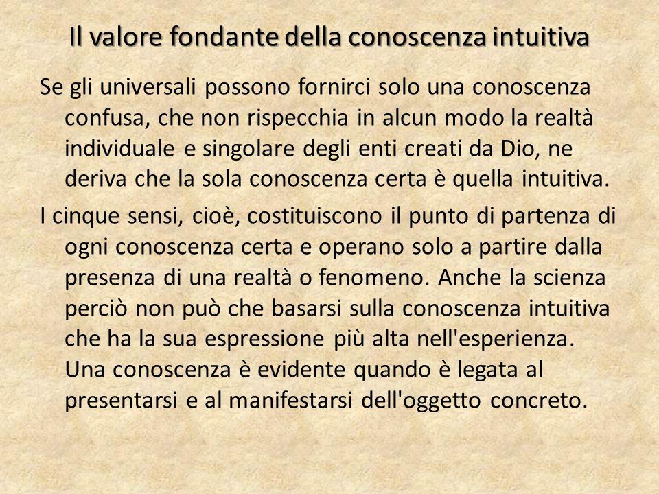 Il valore fondante della conoscenza intuitiva