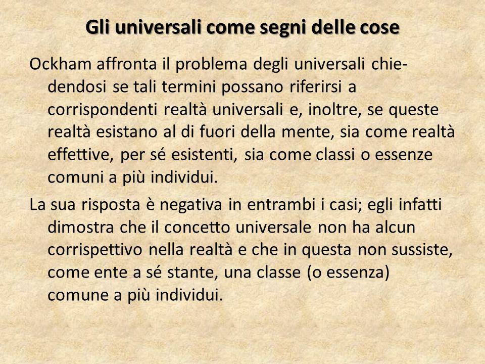 Gli universali come segni delle cose