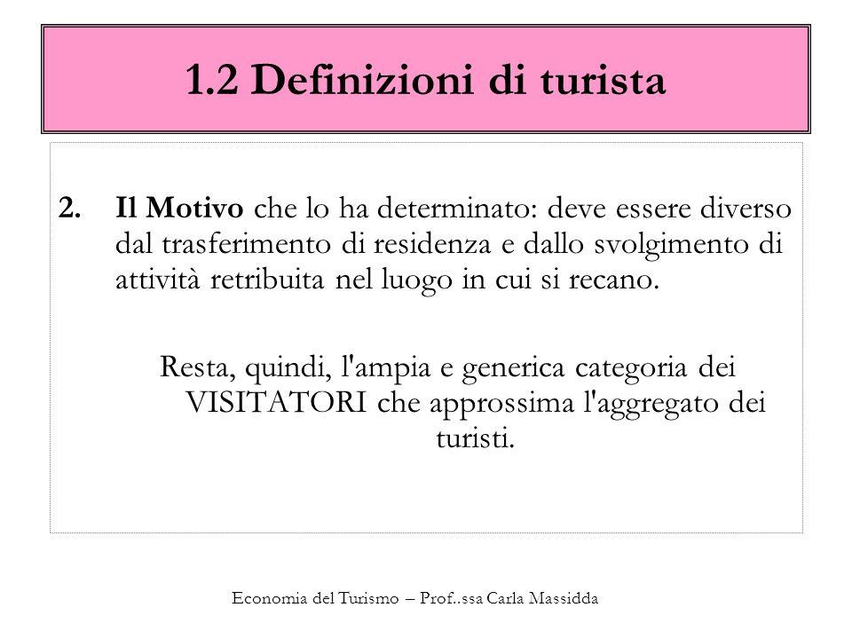 1.2 Definizioni di turista