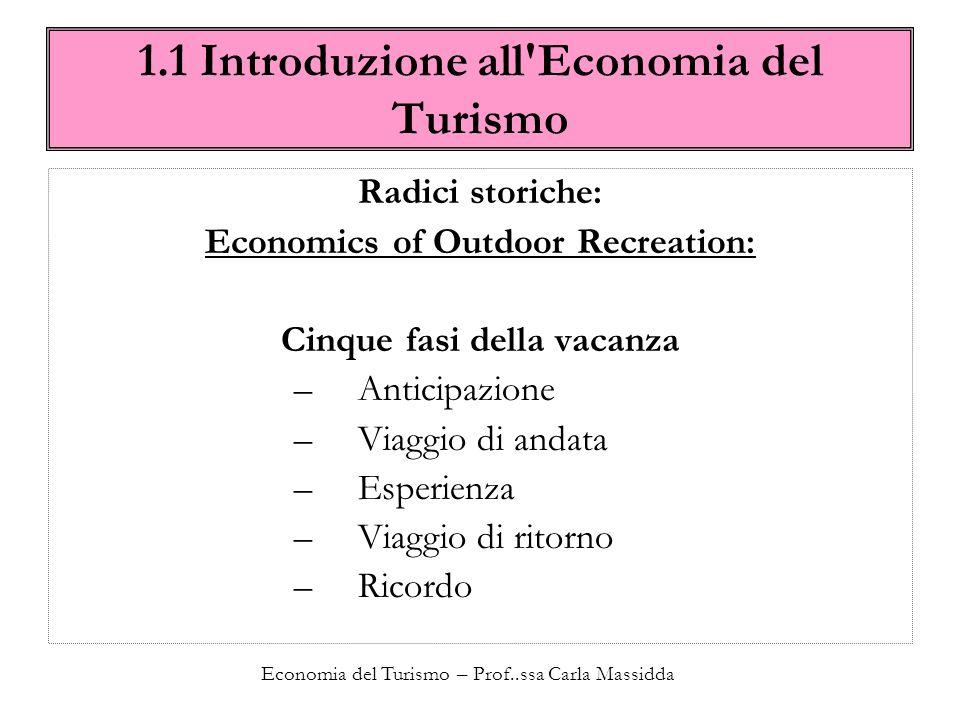 1.1 Introduzione all Economia del Turismo