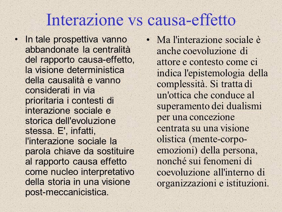 Interazione vs causa-effetto