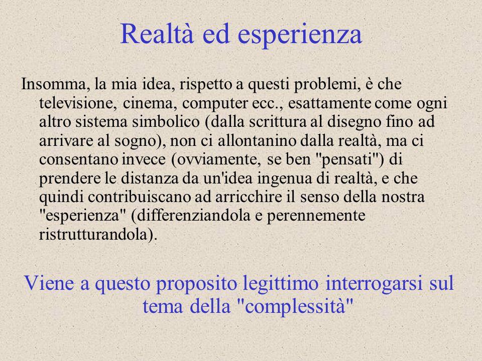 Realtà ed esperienza