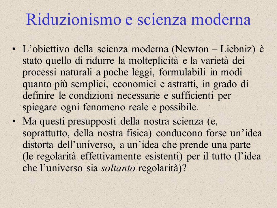 Riduzionismo e scienza moderna