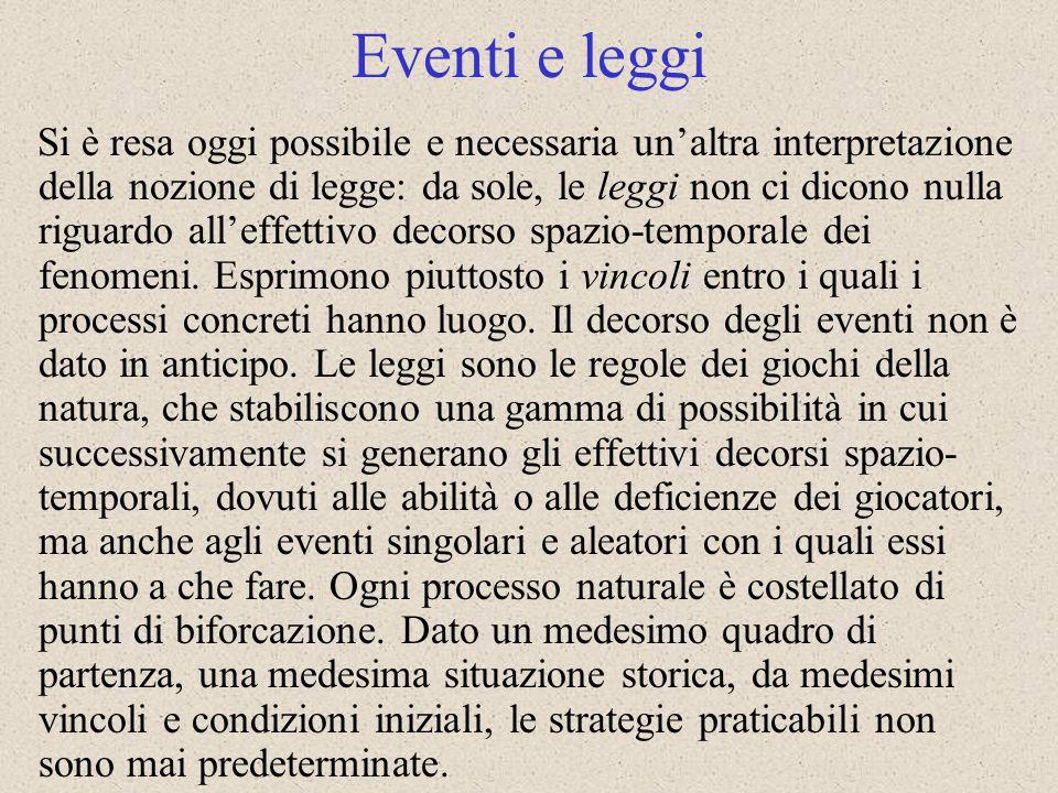 Eventi e leggi