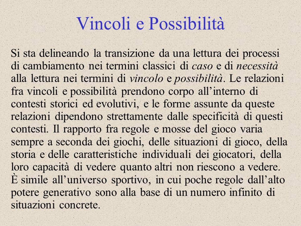 Vincoli e Possibilità