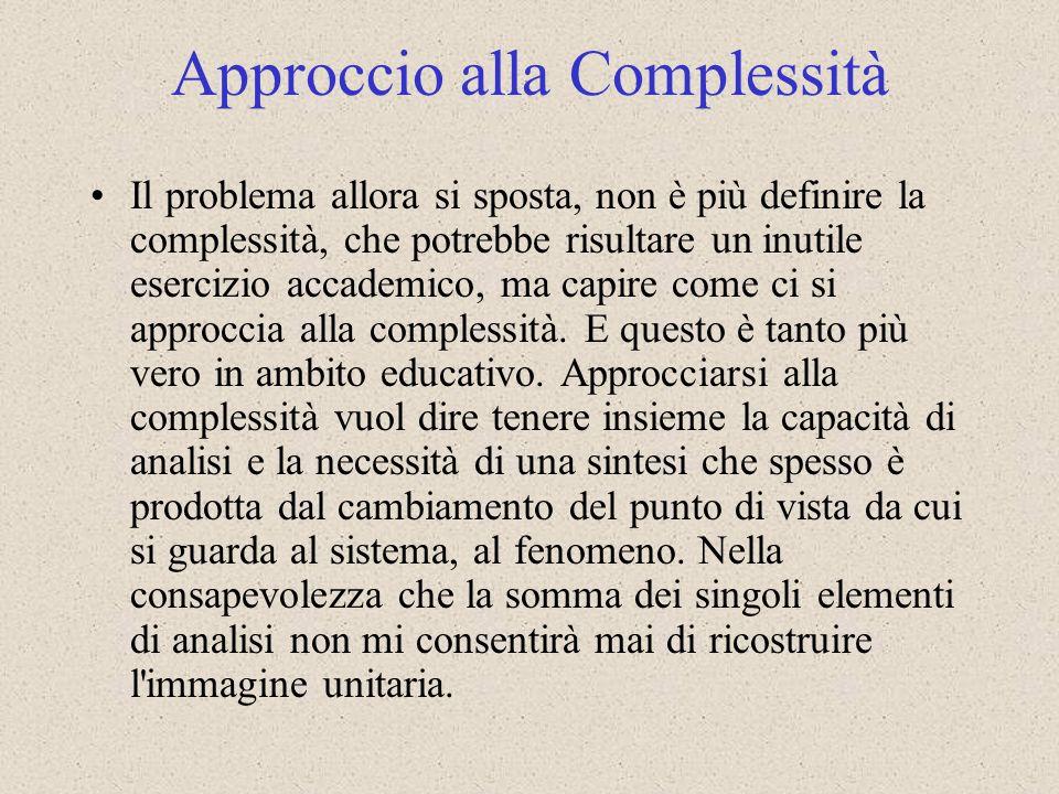Approccio alla Complessità
