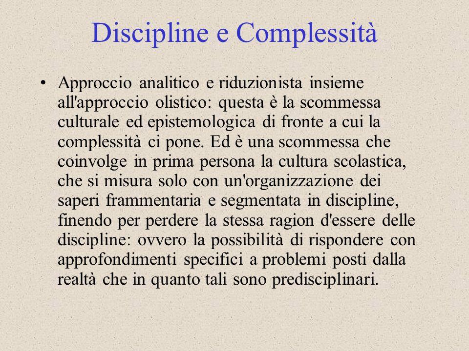 Discipline e Complessità