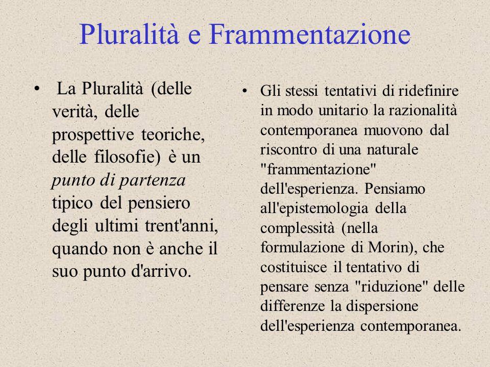 Pluralità e Frammentazione