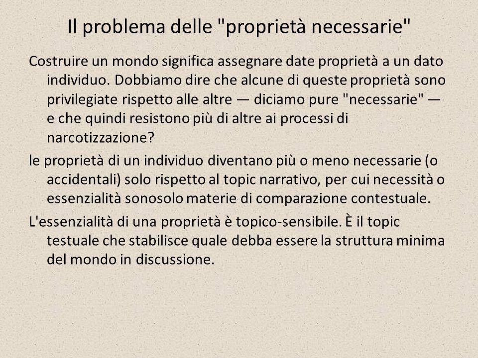 Il problema delle proprietà necessarie