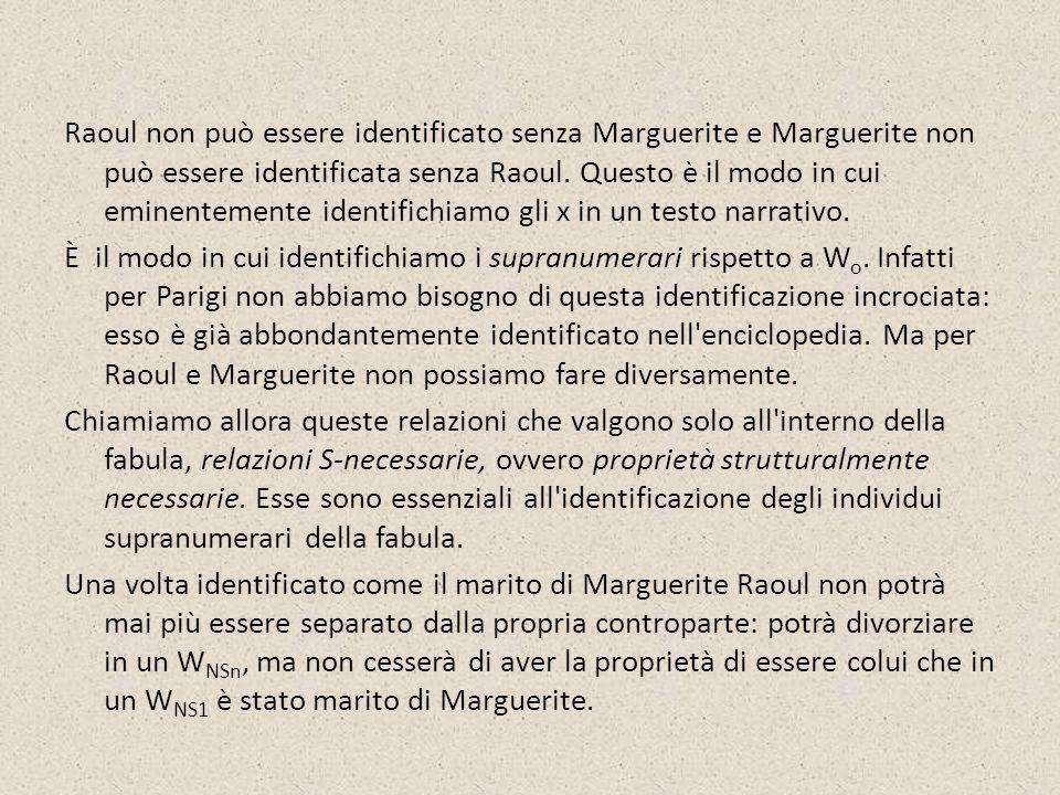 Raoul non può essere identificato senza Marguerite e Marguerite non può essere identificata senza Raoul.
