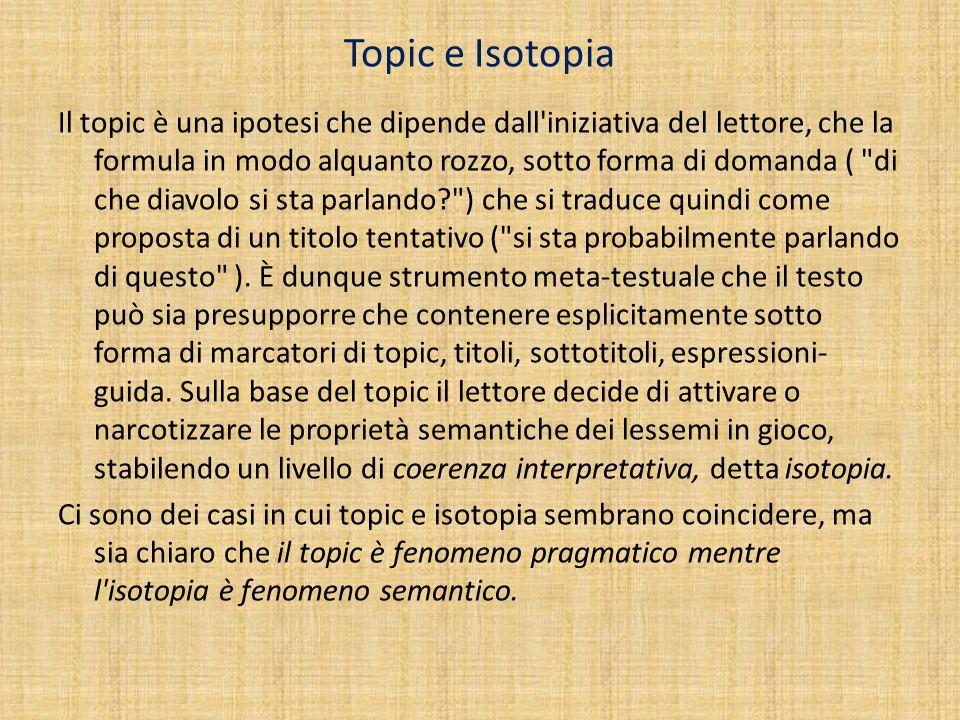 Topic e Isotopia