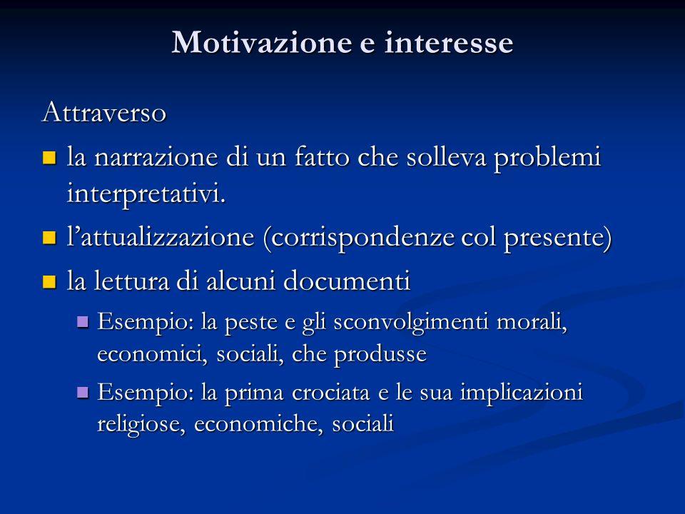 Motivazione e interesse
