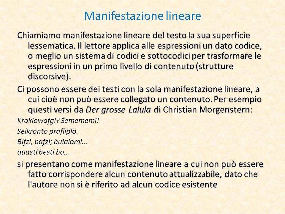 Manifestazione lineare
