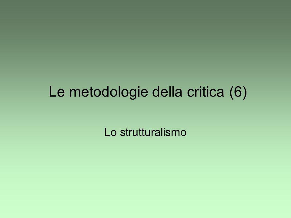 Le metodologie della critica (6)