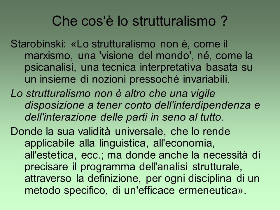 Che cos è lo strutturalismo