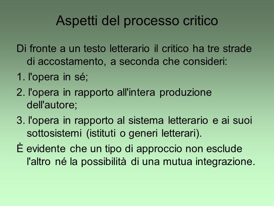 Aspetti del processo critico