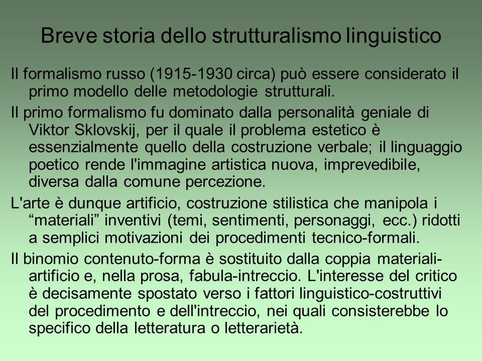 Breve storia dello strutturalismo linguistico
