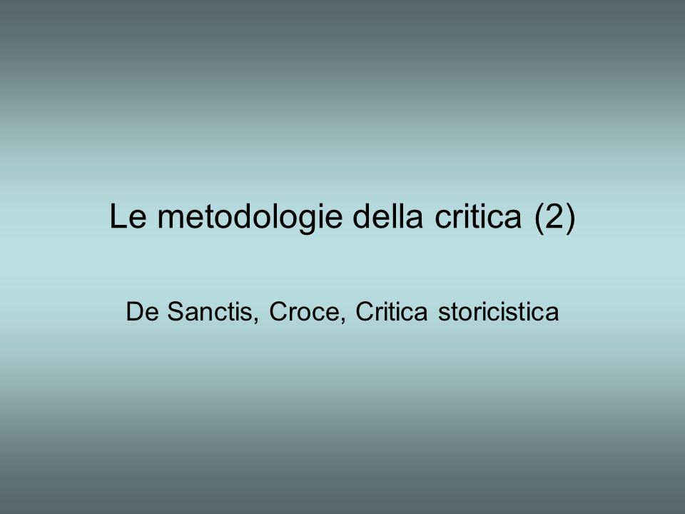 Le metodologie della critica (2)