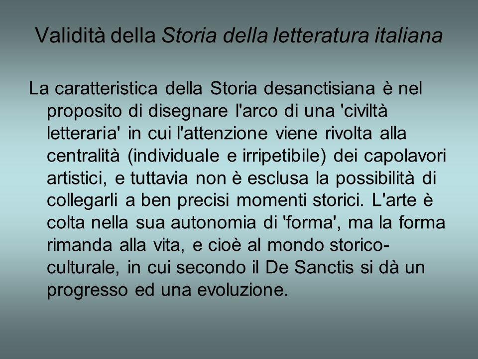 Validità della Storia della letteratura italiana