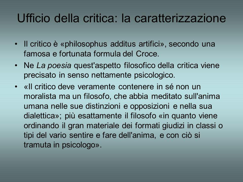 Ufficio della critica: la caratterizzazione