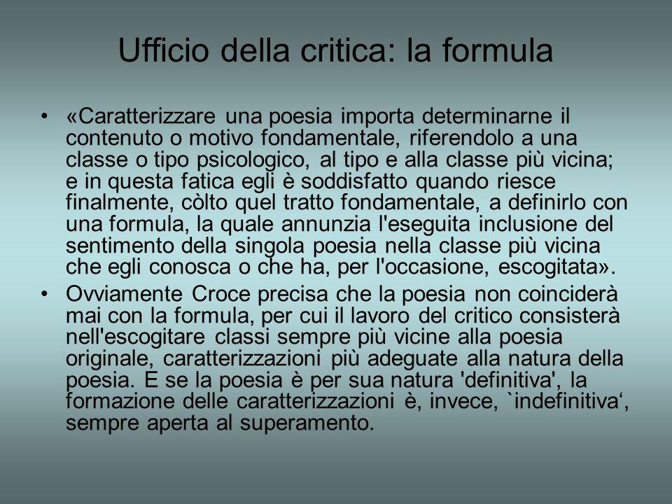Ufficio della critica: la formula