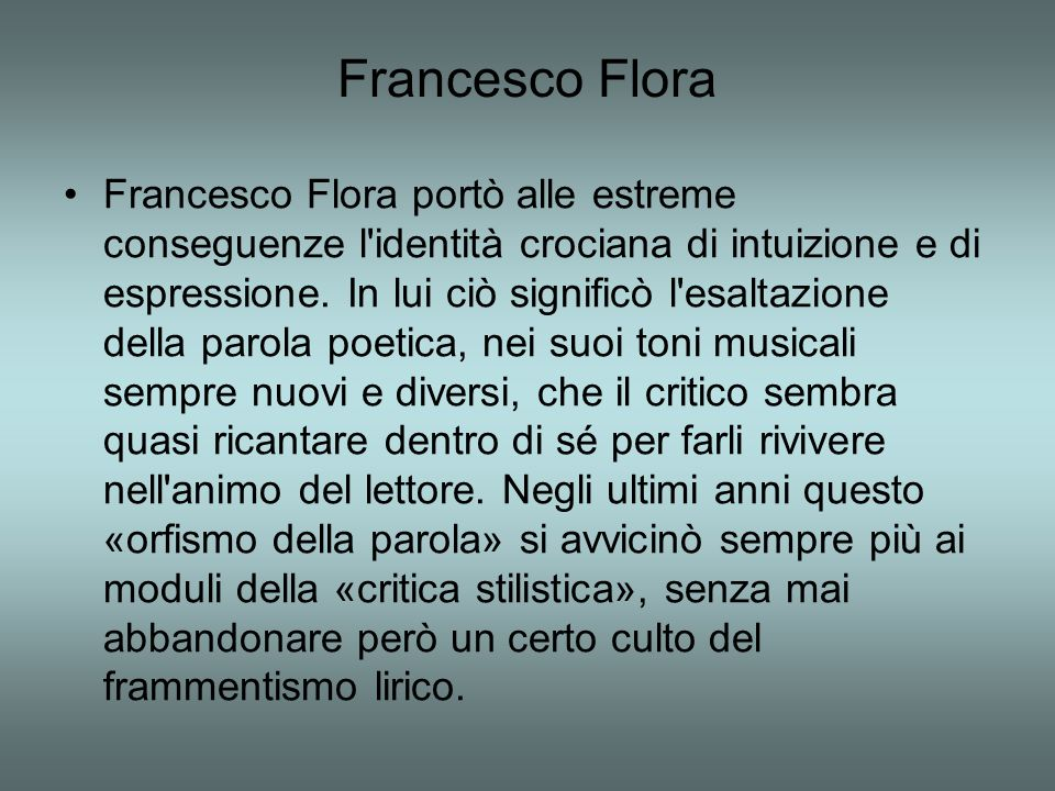 Francesco Flora