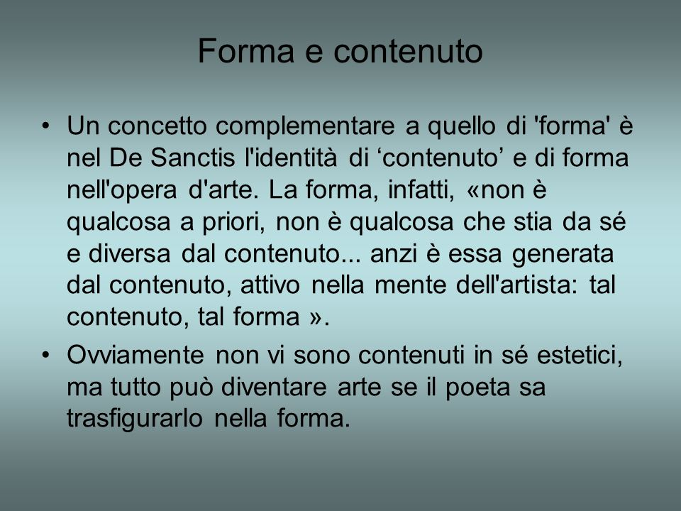 Forma e contenuto