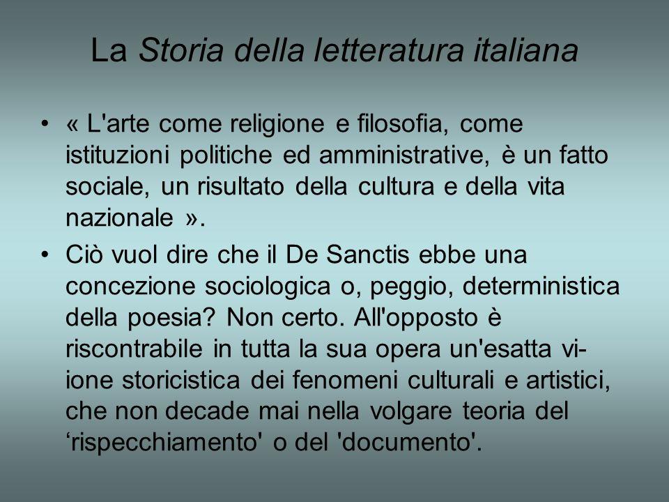 La Storia della letteratura italiana
