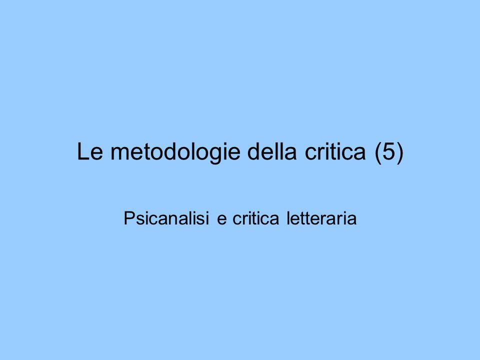 Le metodologie della critica (5)