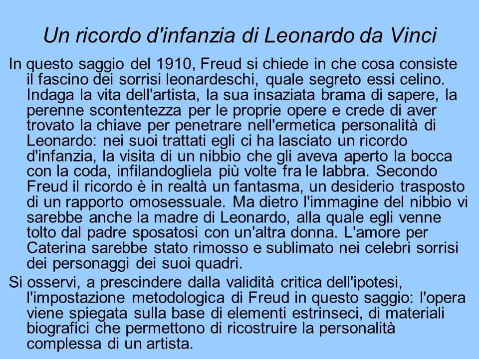 Un ricordo d infanzia di Leonardo da Vinci
